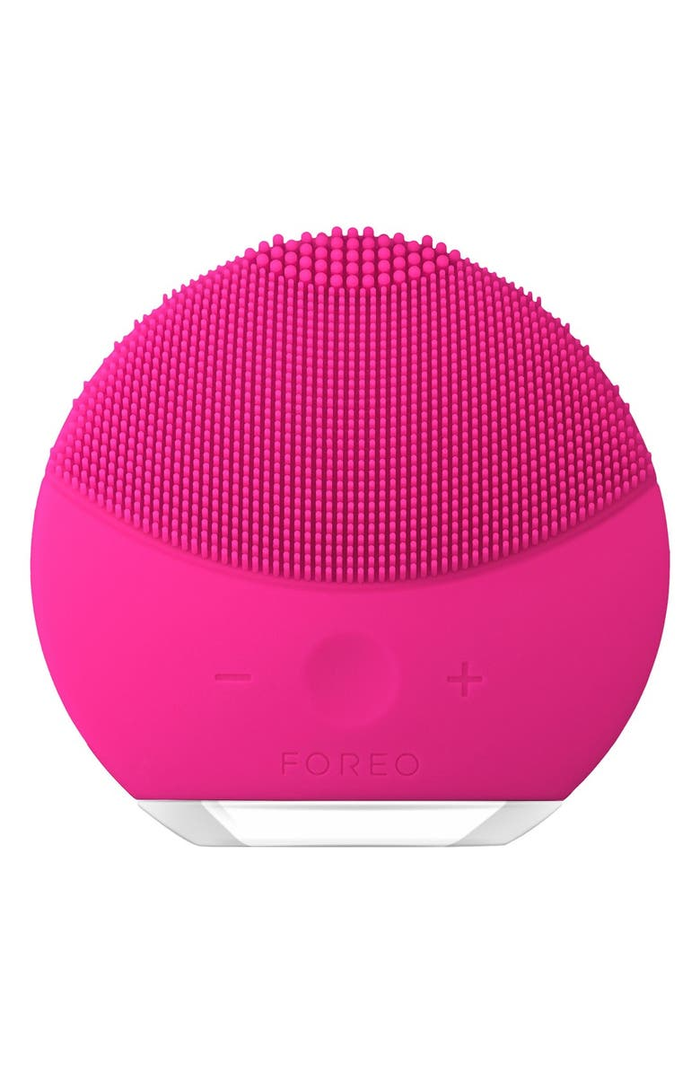 FOREO LUNA<sup>™</sup> Mini 2 Compact Facial Cleansing Device, Main, color, FUCHSIA