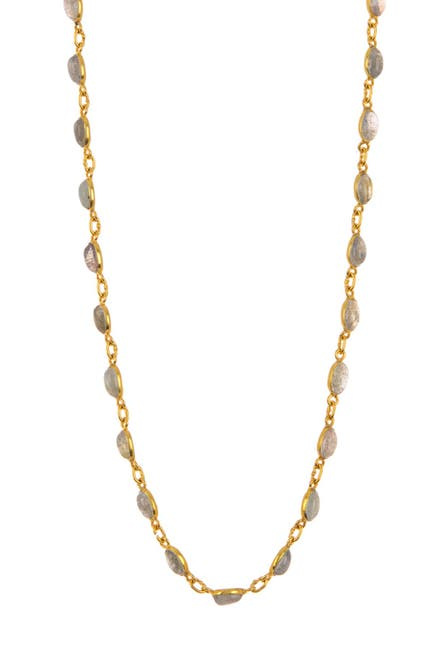Image of Forever Creations USA Inc. Gold Vermeil Sterling Silver Labradorite Necklace