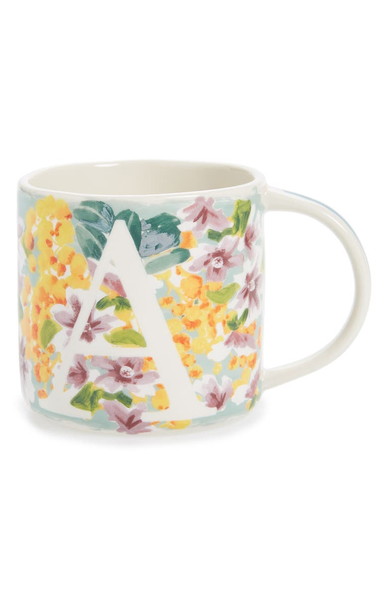 ANTHROPOLOGIE Dawn Monogram Mug, Main, color, A