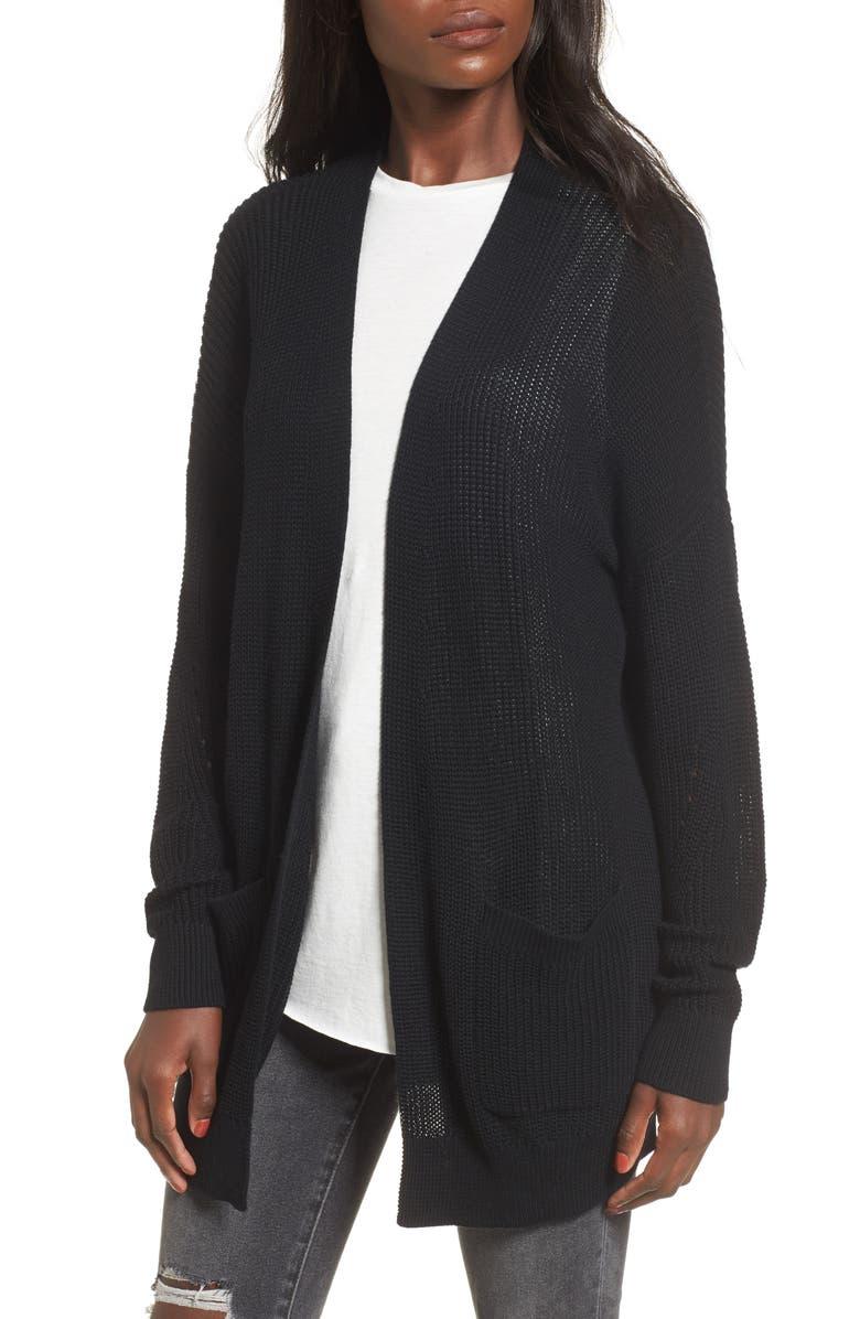 BP. Open Front Cotton Cardigan, Main, color, 001
