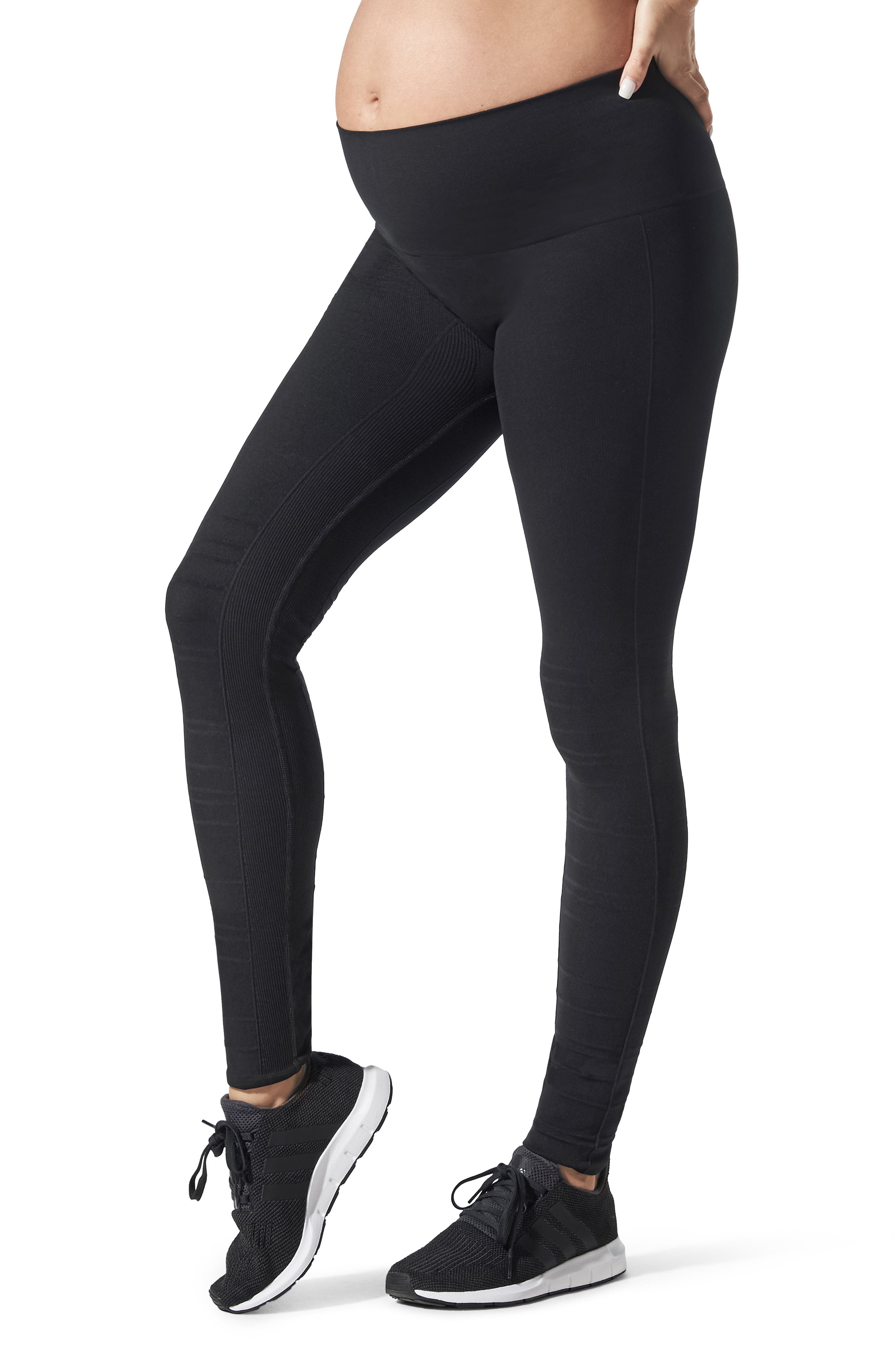 Blanqi Sportsupport Hipster Cuffed Support Maternity/postpartum Leggings, Black