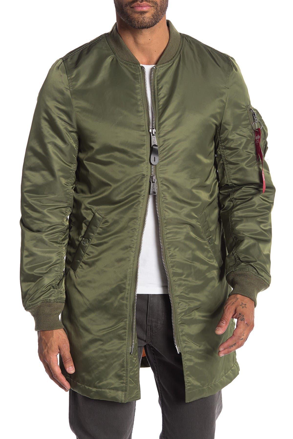 Image of Alpha Industries Long Mock Neck Jacket