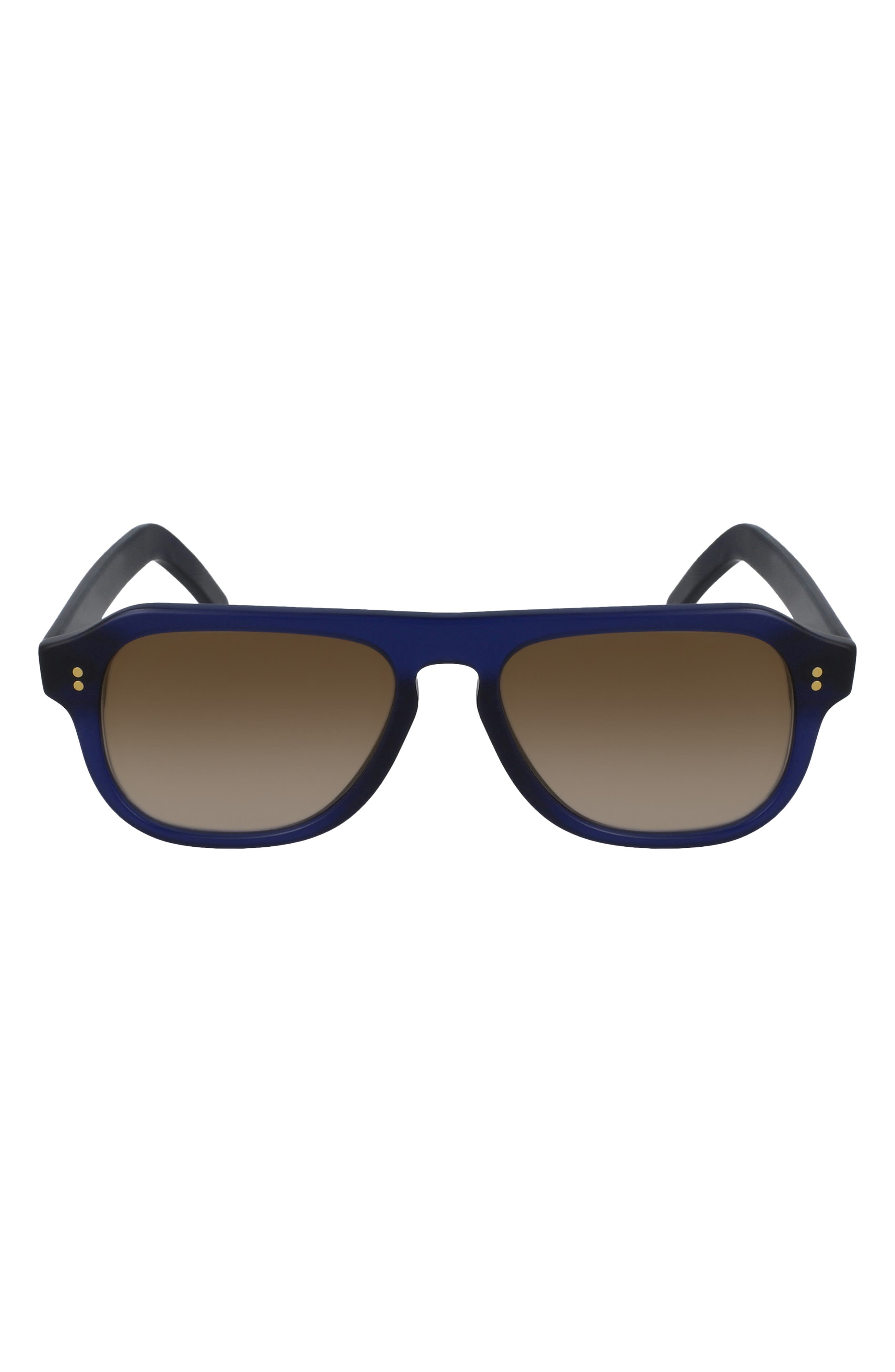 53mm Flat Top Aviator Sunglasses