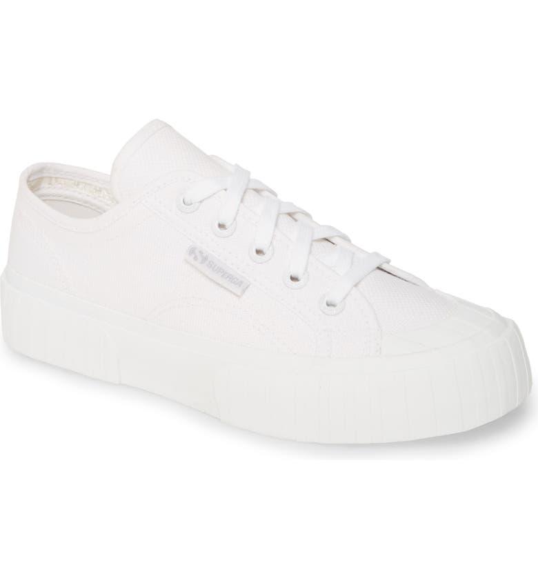 SUPERGA 2630 Cotu Sneaker, Main, color, TOTAL WHITE