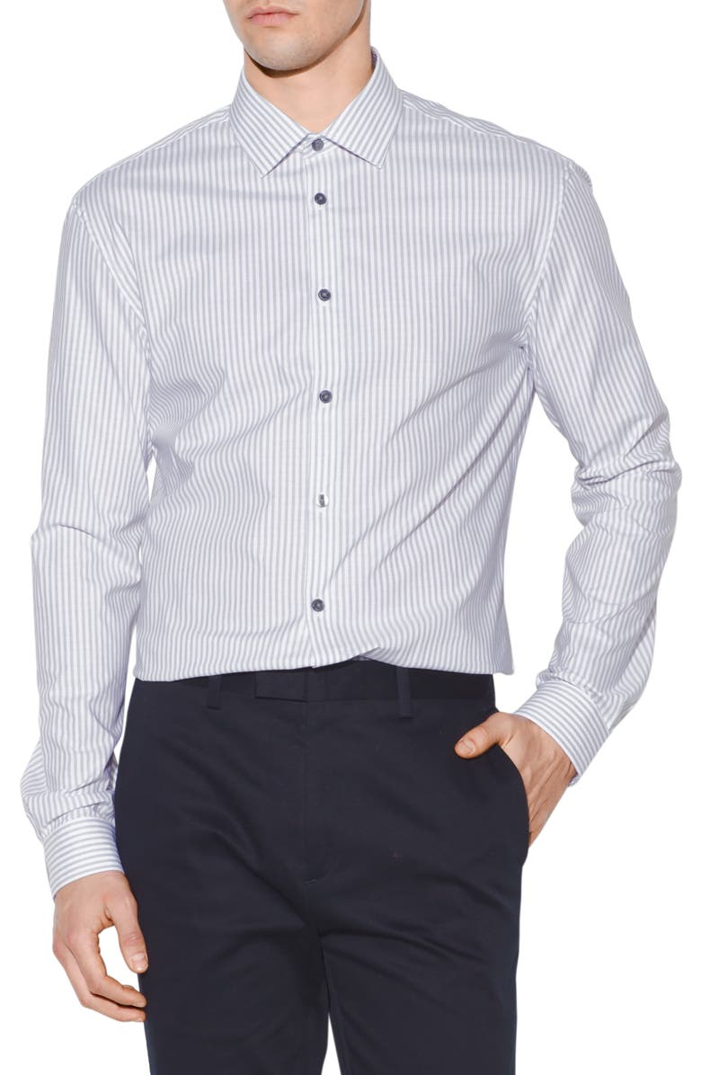 JOHN VARVATOS STAR USA Slim Fit Stripe Dress Shirt, Main, color, 015