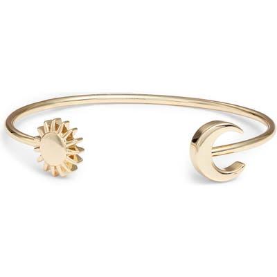 Sterling Forever Crescent Moon & Sun Bangle Bracelet
