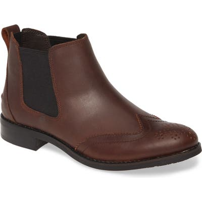 Sperry Fairpoint Chelsea Wingtip Bootie- Brown