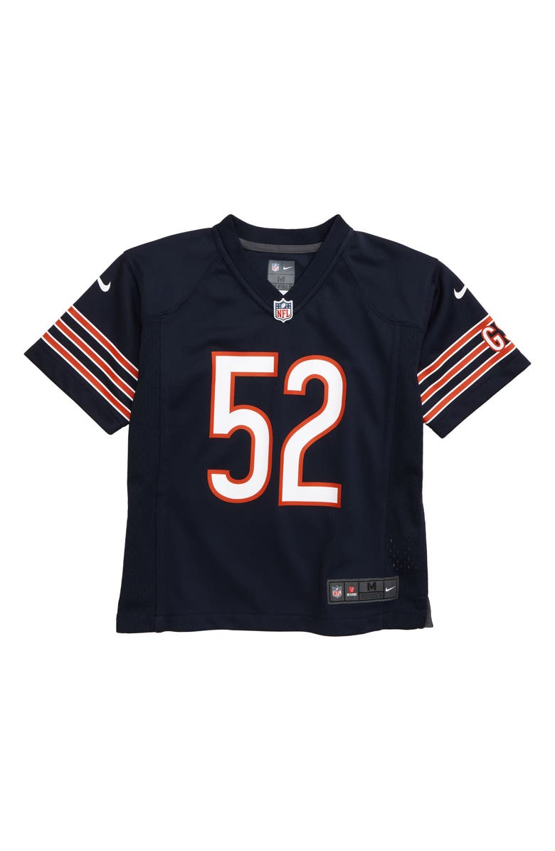 NIKE NFL Logo Chicago Bears Khalil Mack Jersey, Main, color, MARINE
