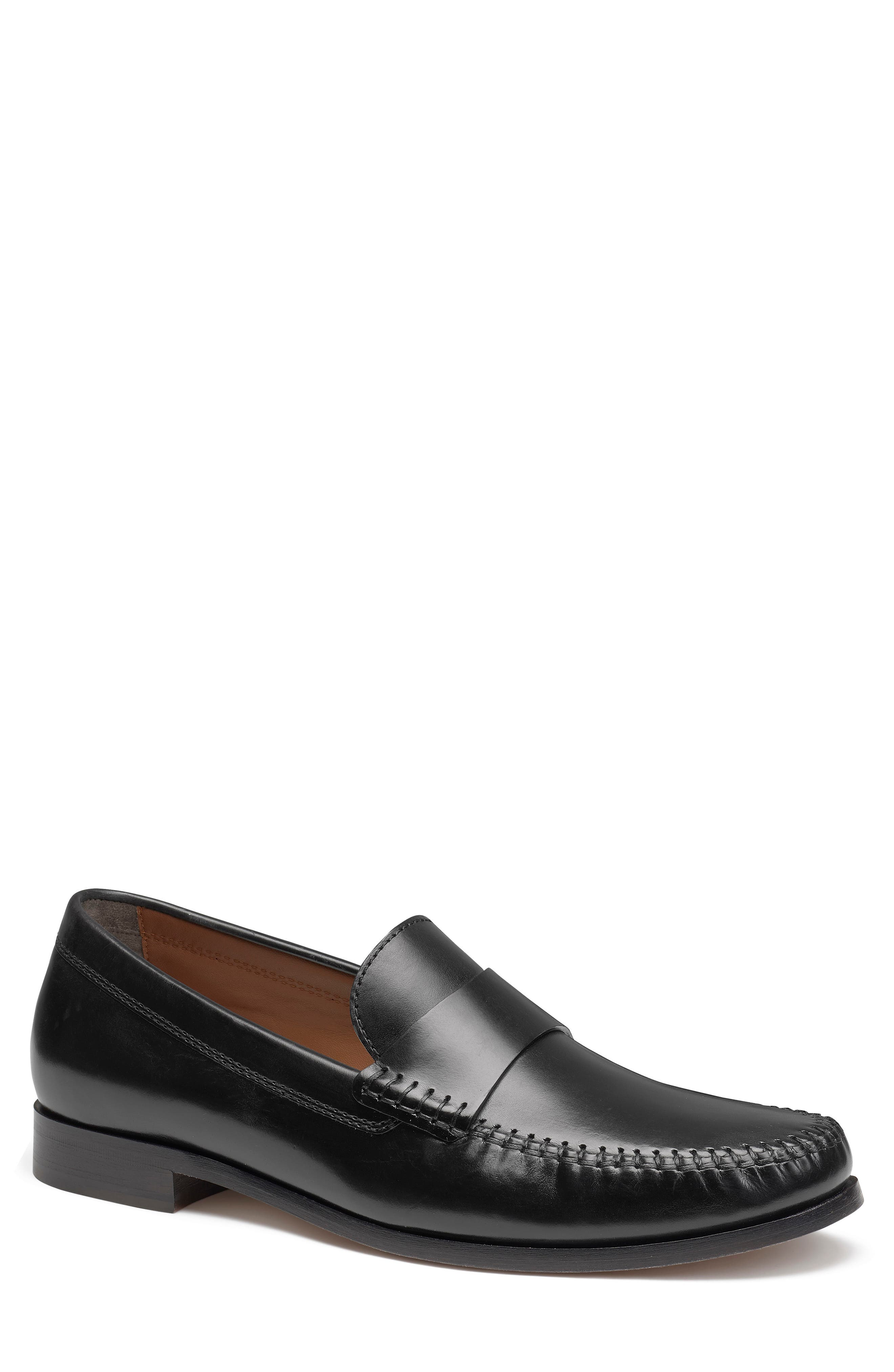 A saddle strap without the slit brings a modern, streamlined finish to this handsewn Italian-leather loafer with comfortable cushioning. Style Name: Trask Sutton Penny Loafer (Men). Style Number: 6006273 1. Available in stores.