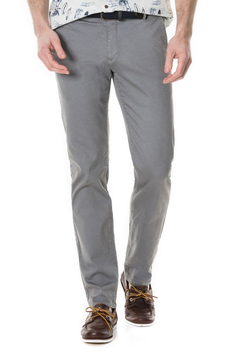 RODD & GUNN Fenwick Custom Straight Leg Chinos, Main, color, ASH