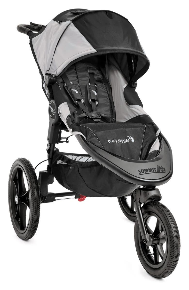 BABY JOGGER Summit<sup>™</sup> X3 Single Jogging Stroller, Main, color, BLACK