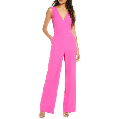 Vince Camuto Sleeveless Jumpsuit, Pink