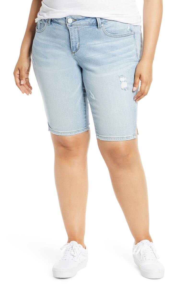 SLINK JEANS Denim Shorts, Main, color, SABRINA
