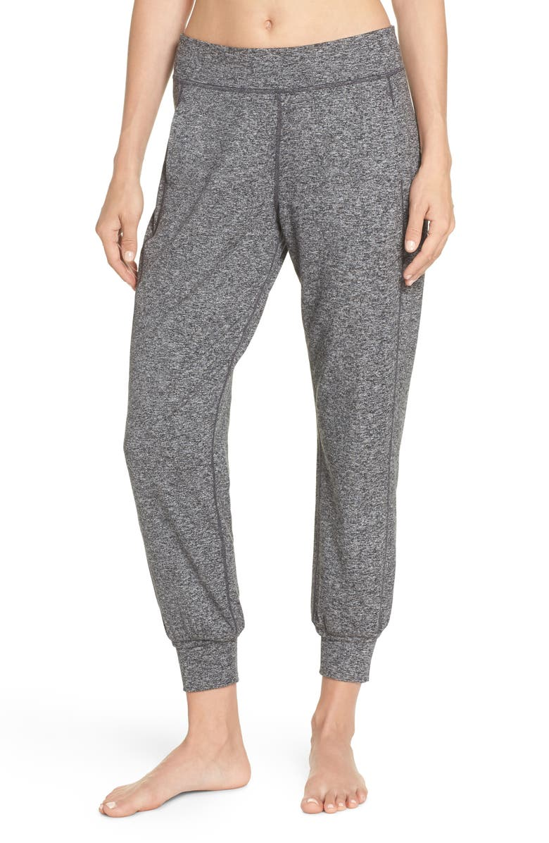 SWEATY BETTY Garudasana Yoga Trousers, Main, color, MARL BLACK