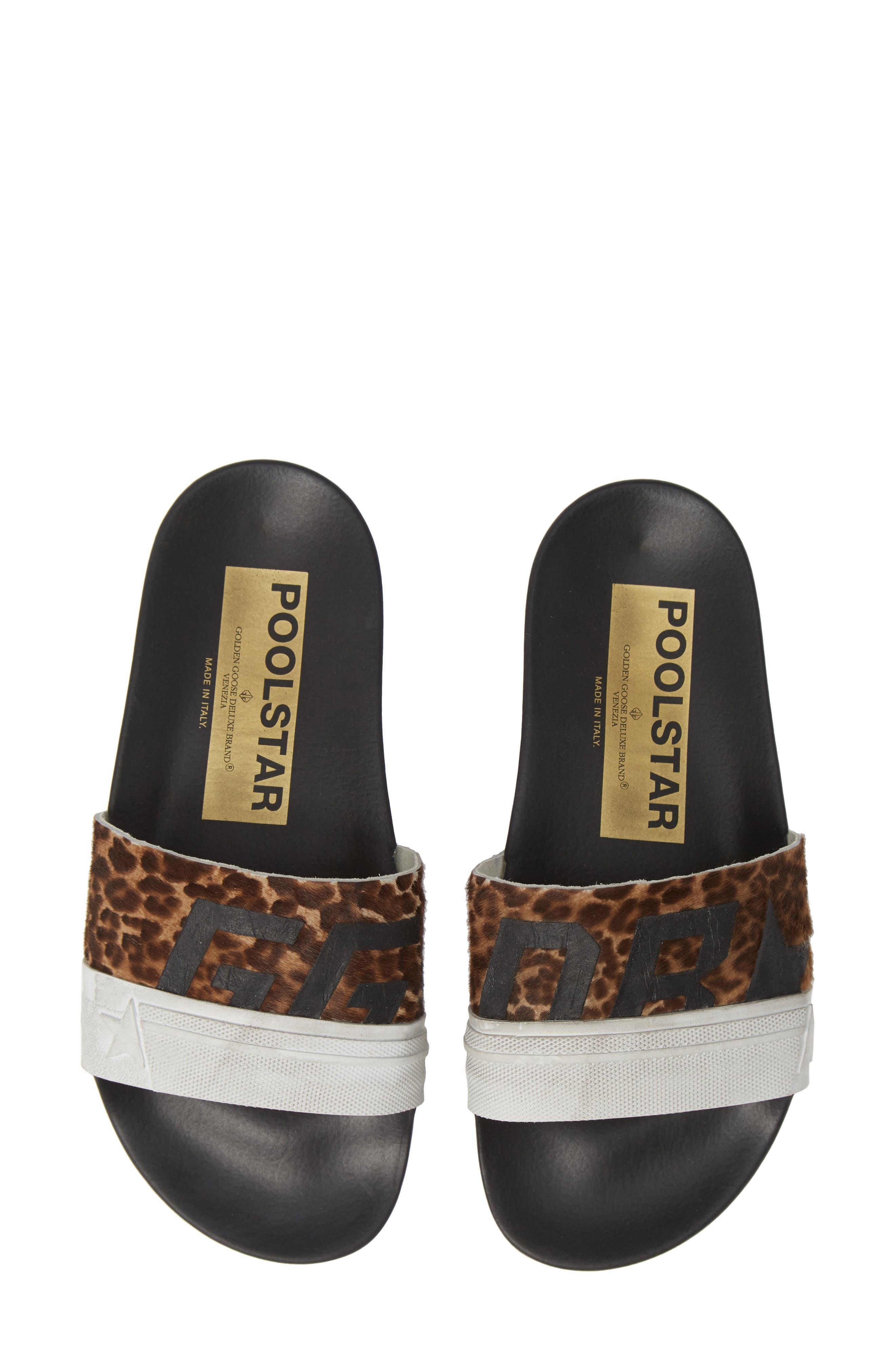 Golden Goose Leopard Poolstar Genuine Calf Hair Sport Slide (Women) (Nordstrom Exclusive)