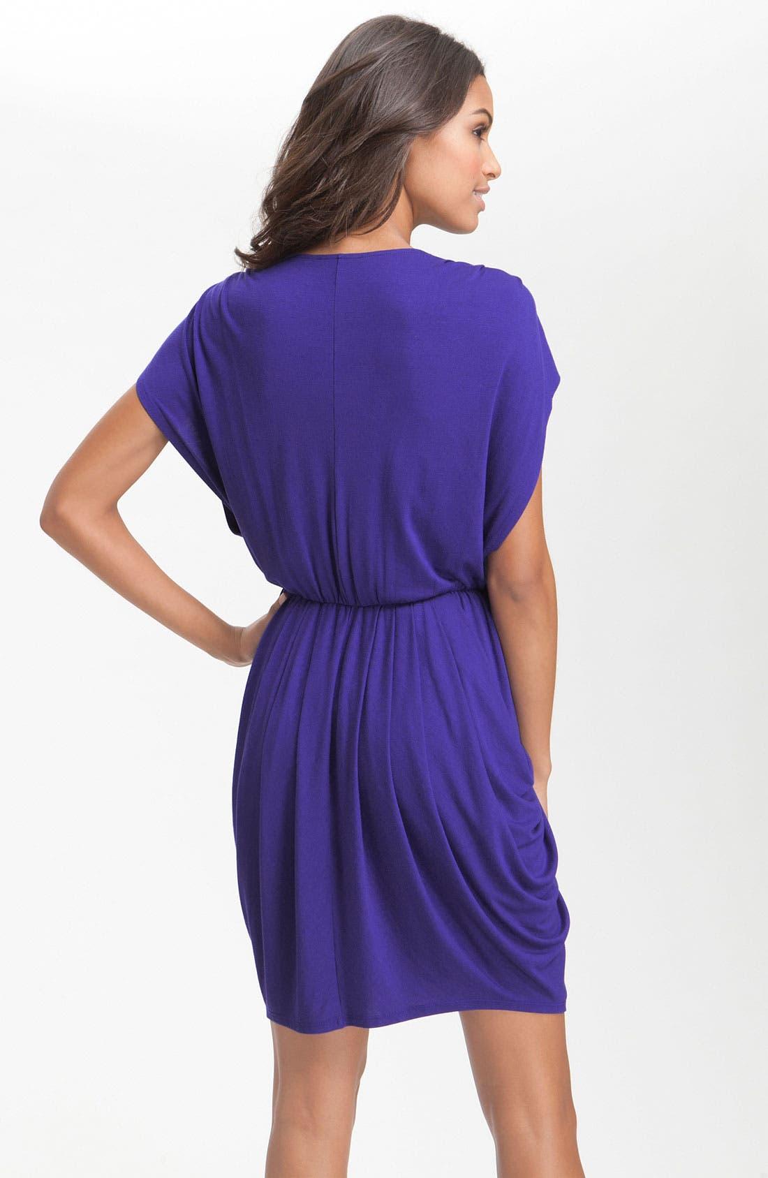 ,                             Faux Wrap Pleated Dress,                             Alternate thumbnail 11, color,                             401