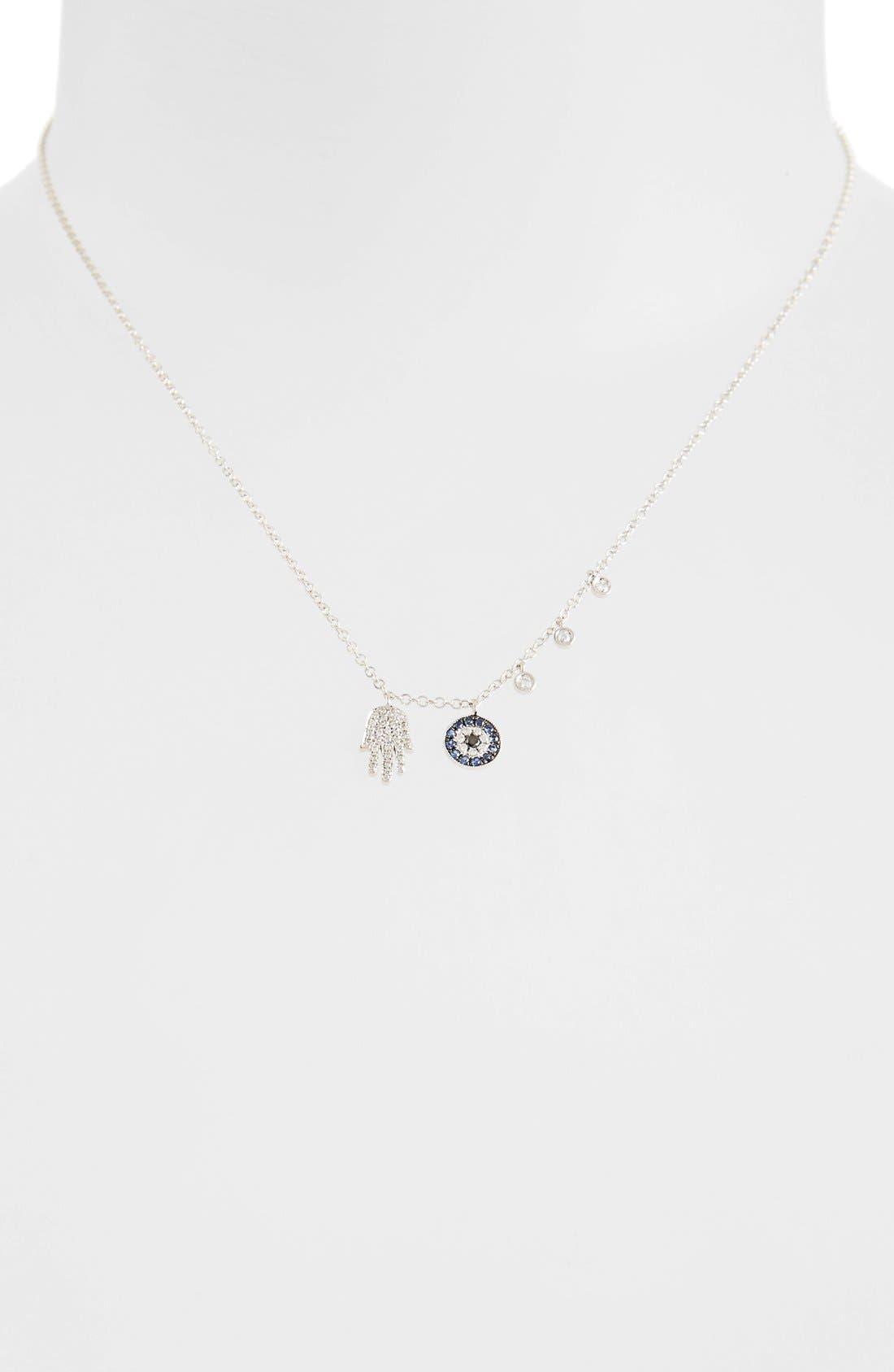 Women's Meira T Desert Infusion Diamond & Sapphire Pendant Necklace