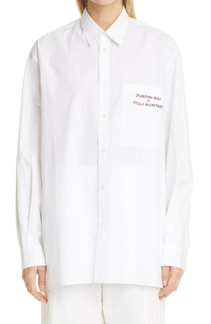 Stella Mccartney X YOSHITOMO NARA COTTON SHIRT