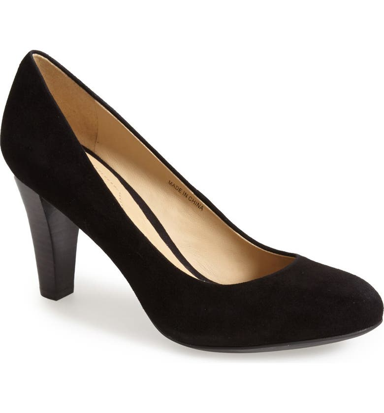 GEOX 'Marie Claire' Suede Pump, Main, color, 001