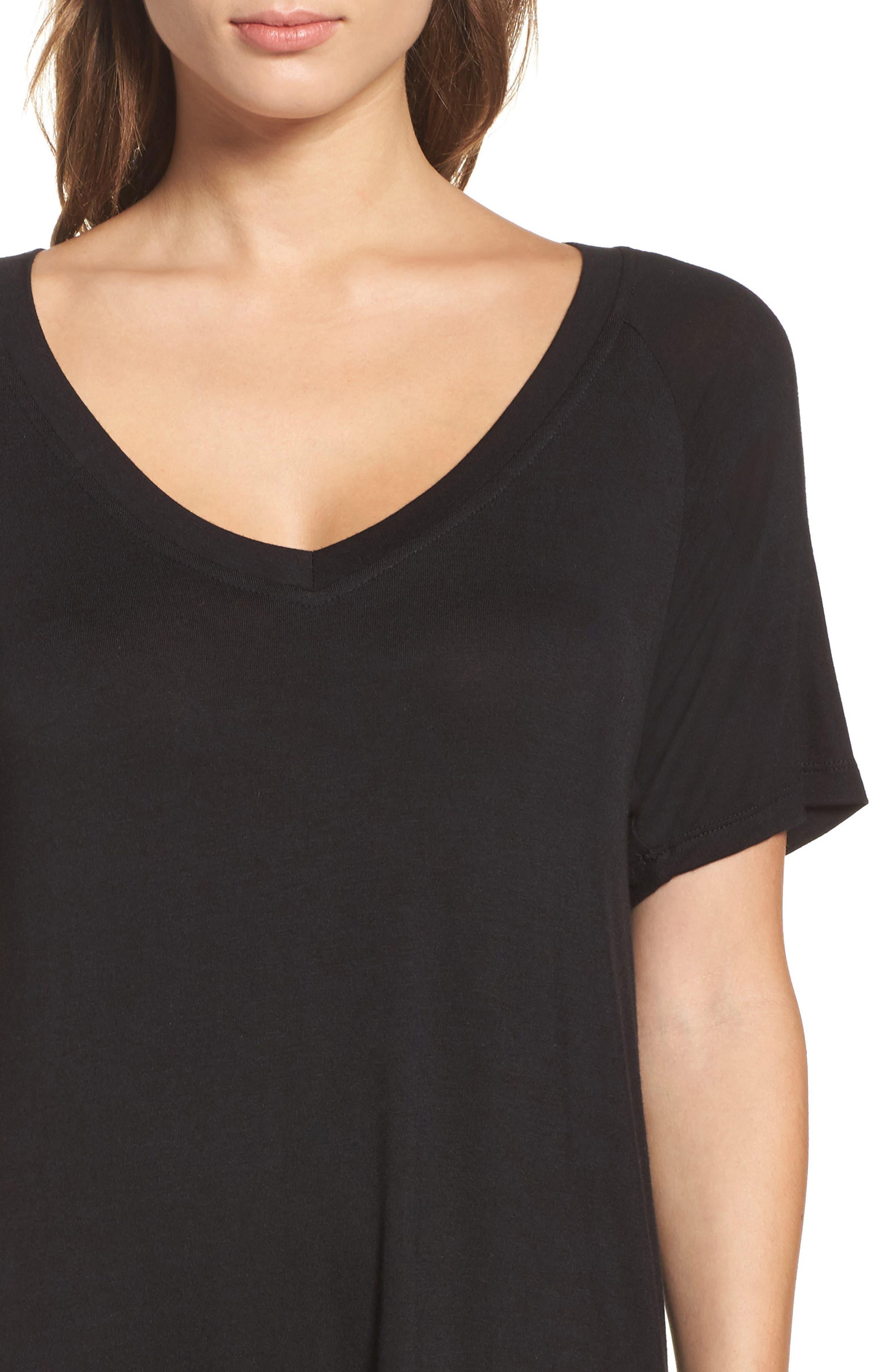 ,                             All American Sleep Shirt,                             Alternate thumbnail 4, color,                             BLACK