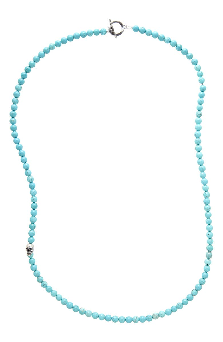DEGS & SAL Turquoise Bead Necklace, Main, color, 400