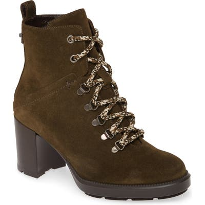 Aquatalia Ihana Water Resistant Lace-Up Boot, Green