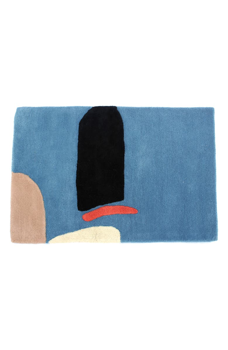 COLD PICNIC The Armchair Hand Tufted Wool Rug, Main, color, BLUE BLACK