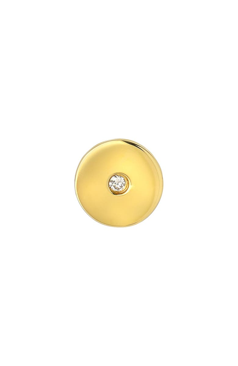 MINI MINI JEWELS Forever Collection - Circle Diamond Stud Earring, Main, color, YELLOW GOLD