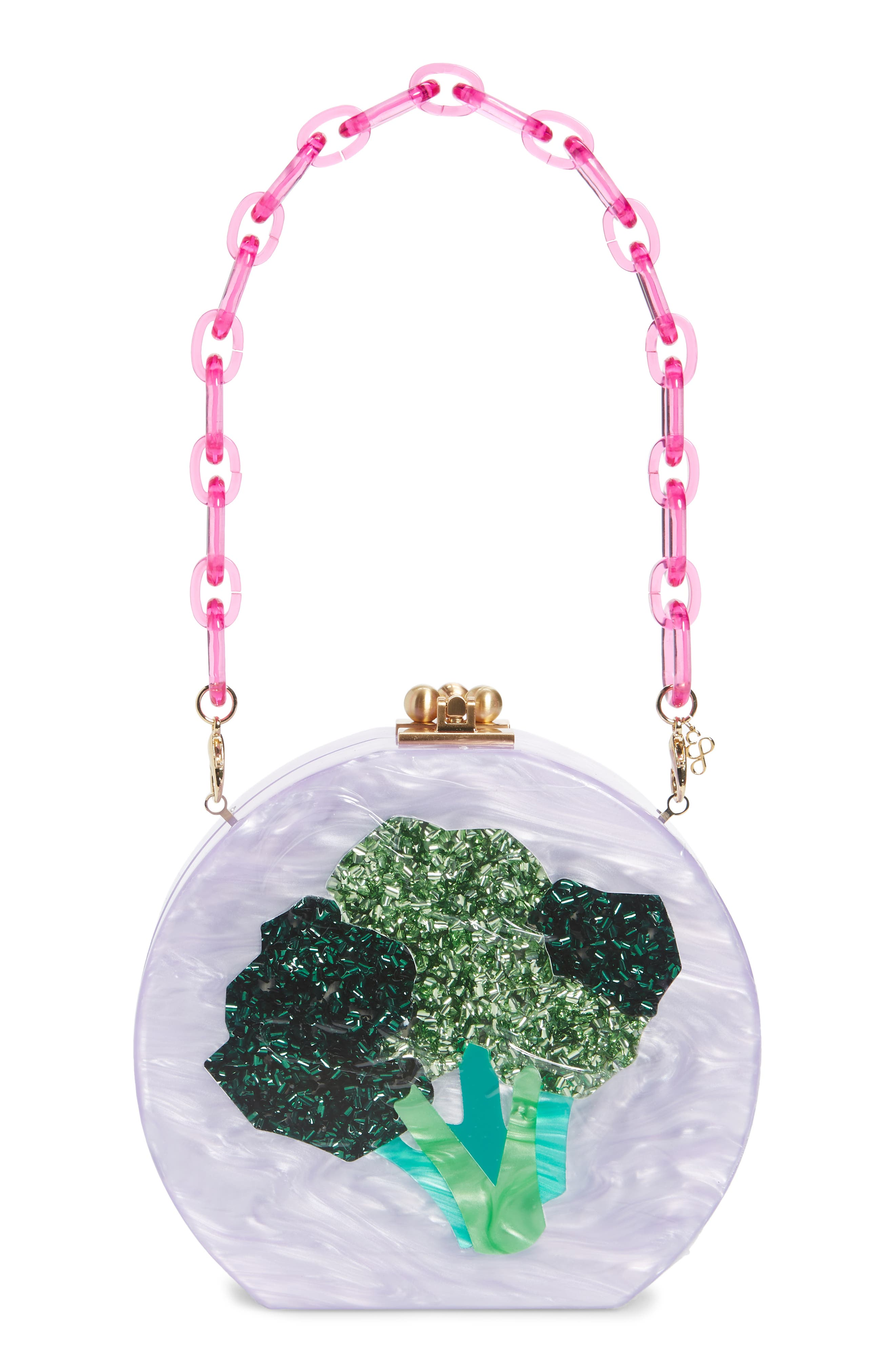 Edie Parker Broccoli Acrylic Bag in Lilac at Nordstrom