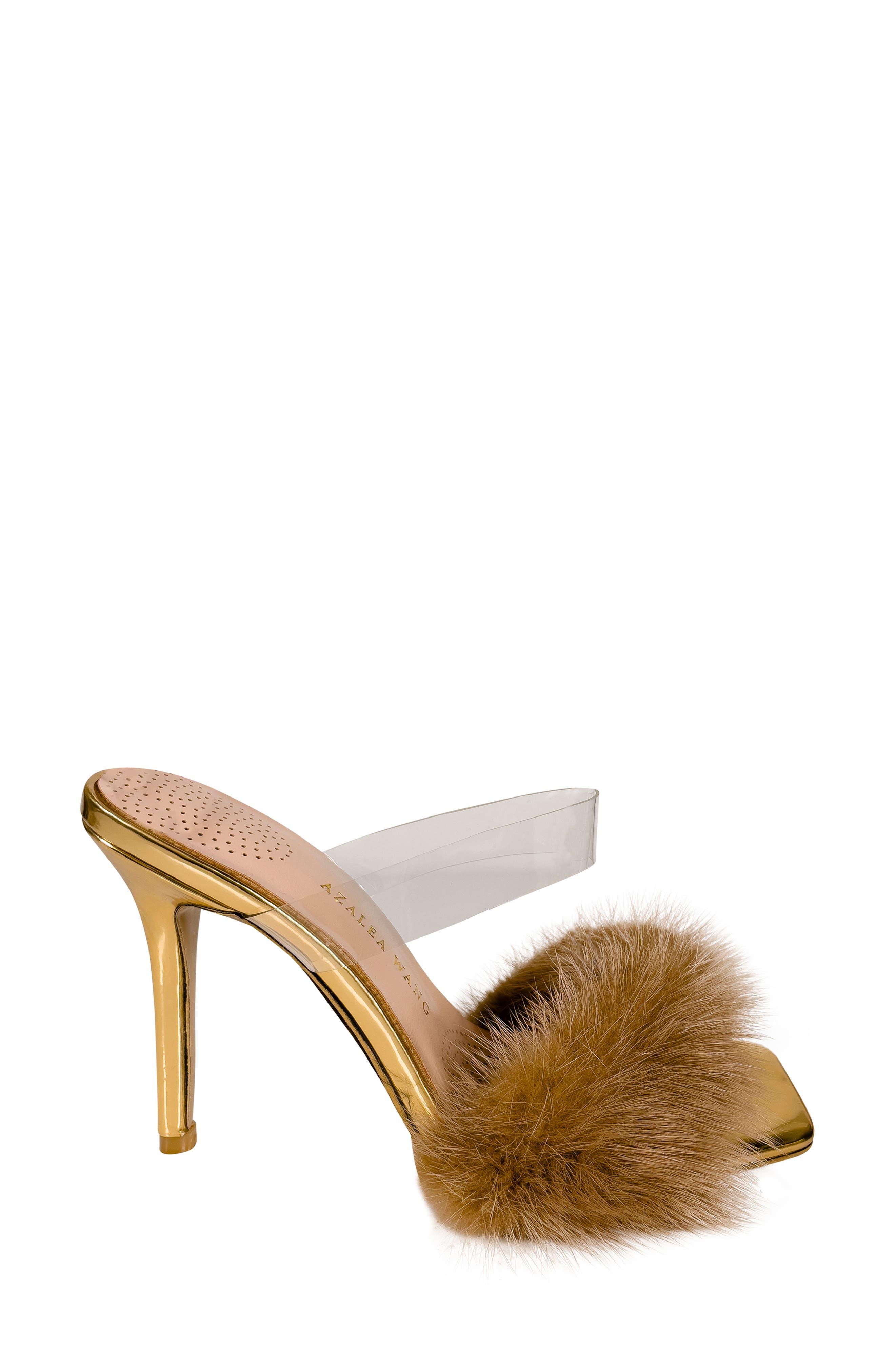 Foxy Faux Fur Sandal