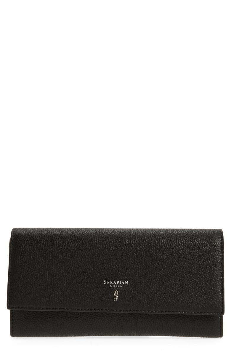 SERAPIAN MILANO Rugiad Continental Wallet, Main, color, 001