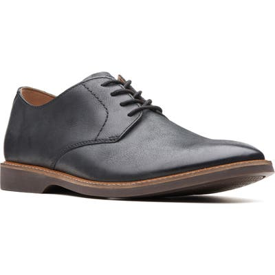 Clarks Atticus Plain Toe Derby, Black