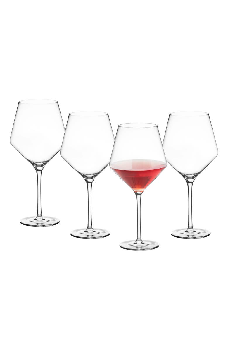 CATHY'S CONCEPTS Estate Collection Set of 4 Monogram Red Wine Glasses, Main, color, BLANK