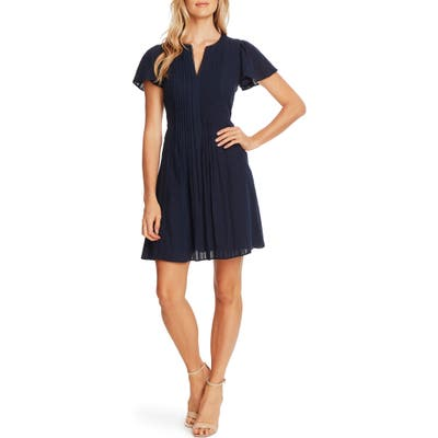 Cece Stripe Flutter Sleeve A-Line Dress