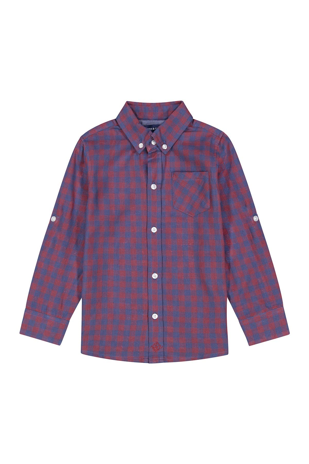 Image of Andy & Evan Double Sided Fabric Button Down Shirt