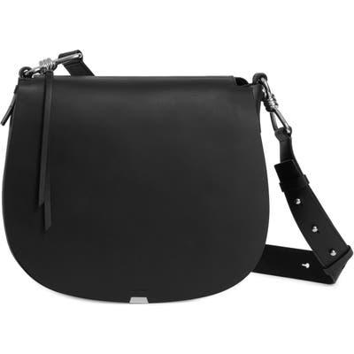 Allsaints Captain Round Leather Shoulder Bag - Black