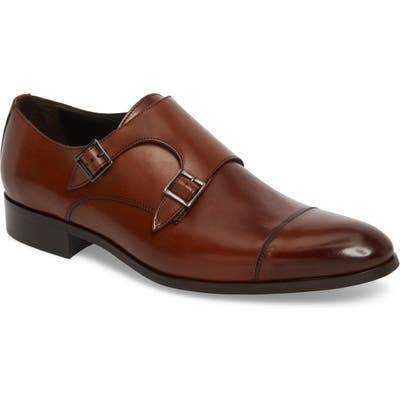 To Boot New York Bankston Cap Toe Double Strap Monk Shoe, Brown