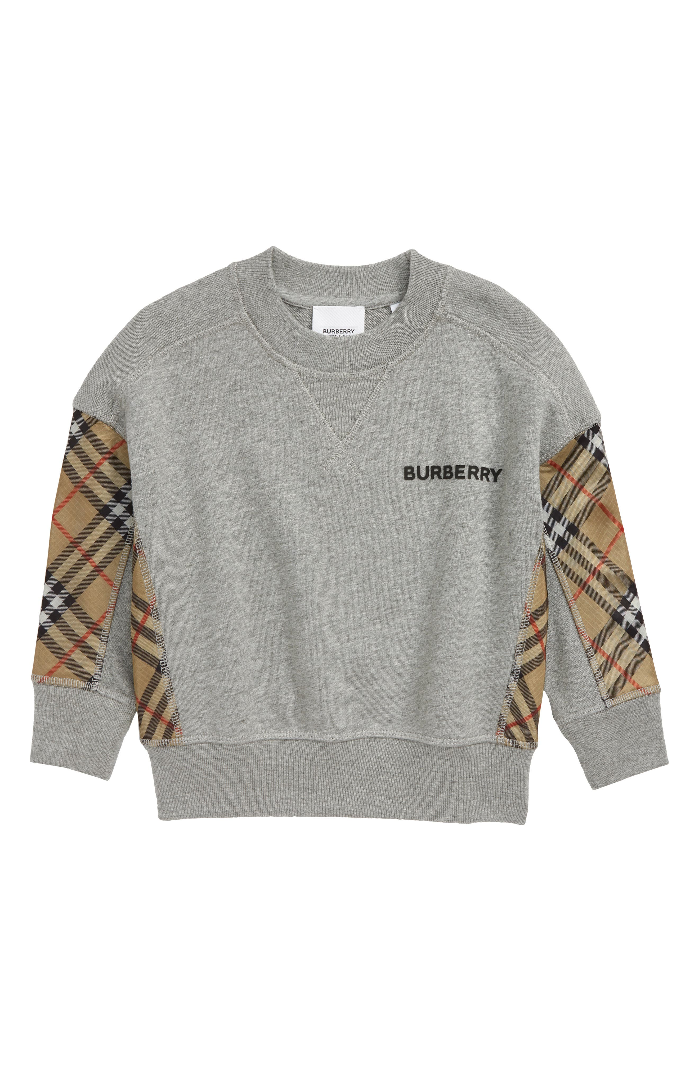 Boys Burberry Hamilton Sweatshirt Size 14Y  Grey
