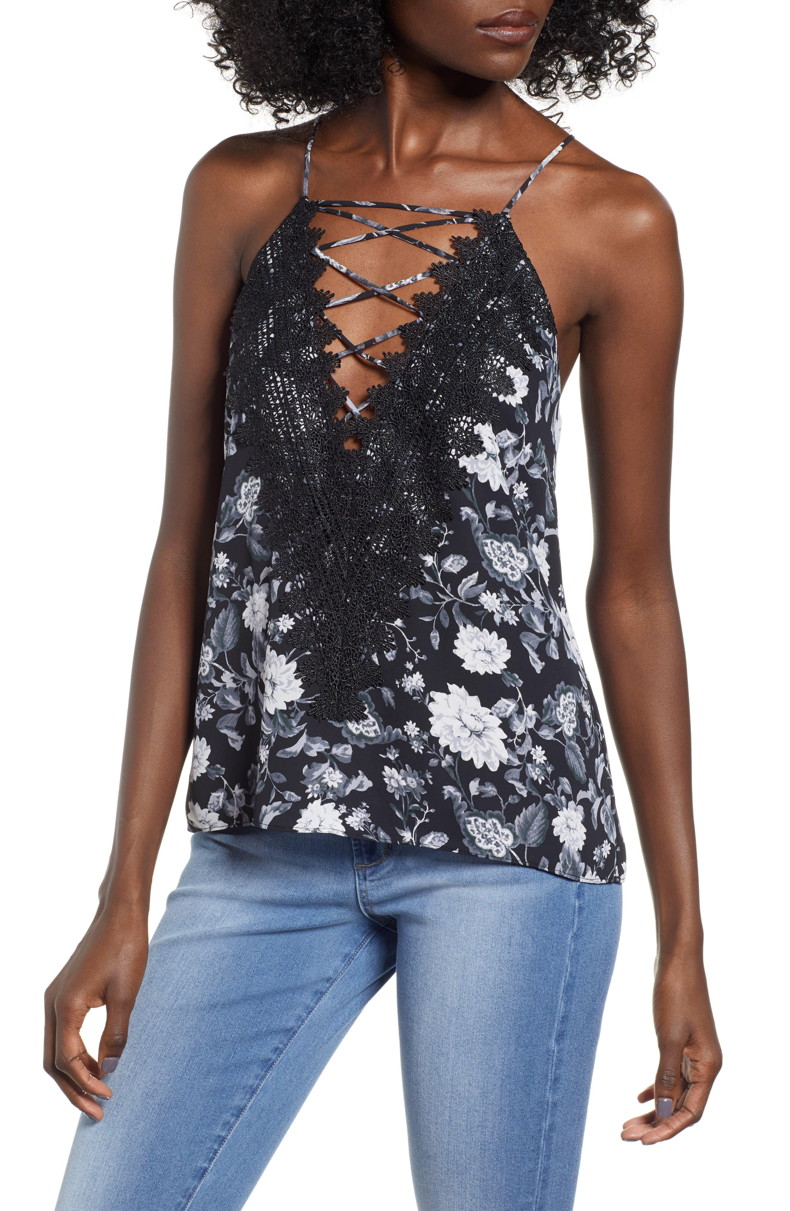 ,                             Posie Strappy Camisole,                             Main thumbnail 116, color,                             005