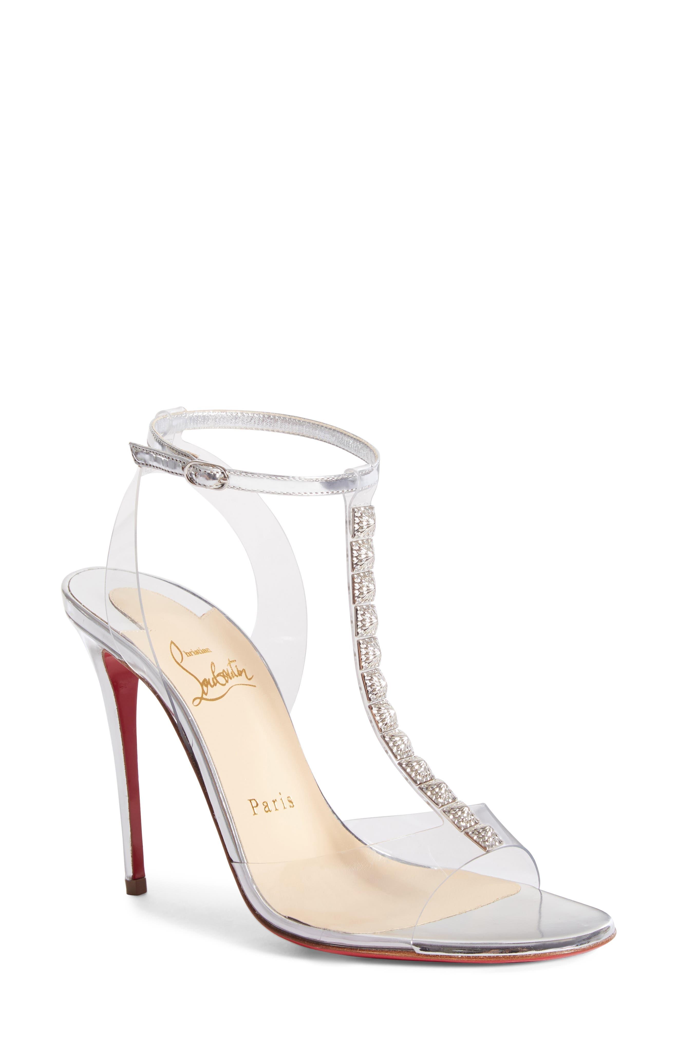 Christian Louboutin Jamais Assez Clear T-Strap Sandal (Women)