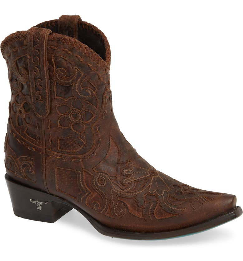 LANE BOOTS Robin Western Boot, Main, color, DARK BROWN LEATHER