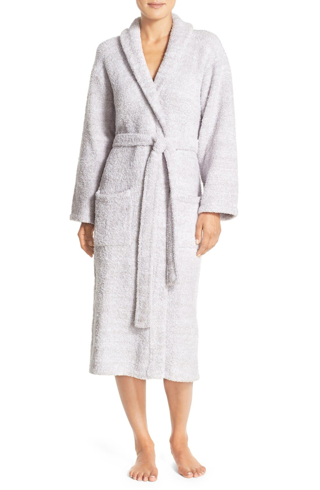 ,                             CozyChic<sup>®</sup> Robe,                             Main thumbnail 1, color,                             LIGHT GRAY/ WHITE