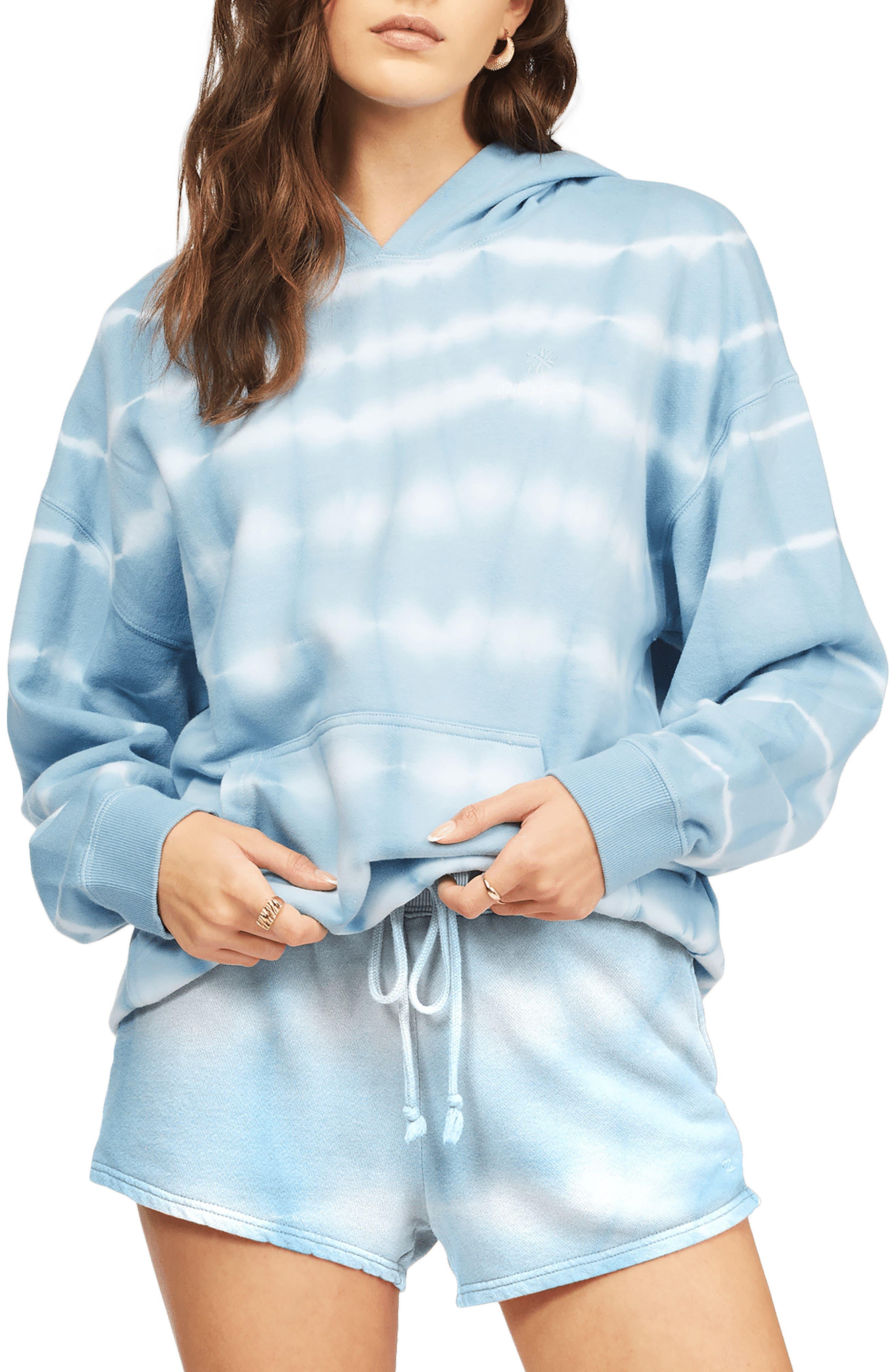 Gold Coast Stripe Tie Dye Cotton Blend Shorts