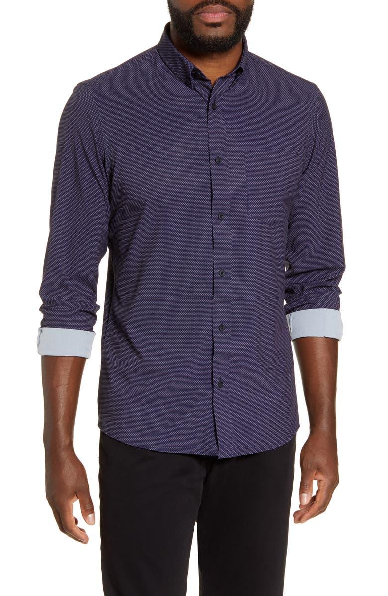 NORDSTROM MEN'S SHOP Regular Fit Button-Down Shirt, Main, color, 410