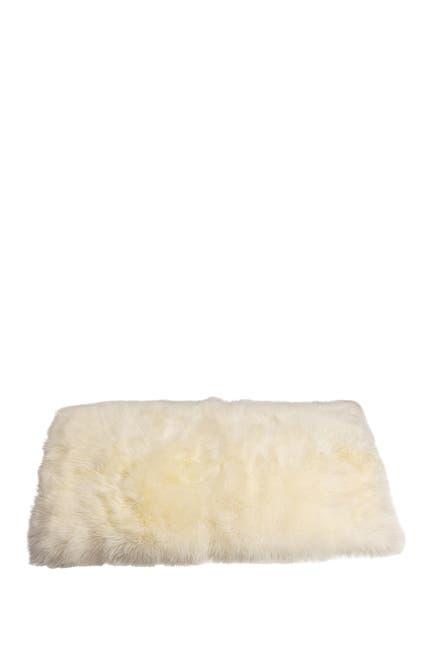 Image of Natural New Zealand Rectangular Sheepskin Throw - 3ft X 5ft - Natural