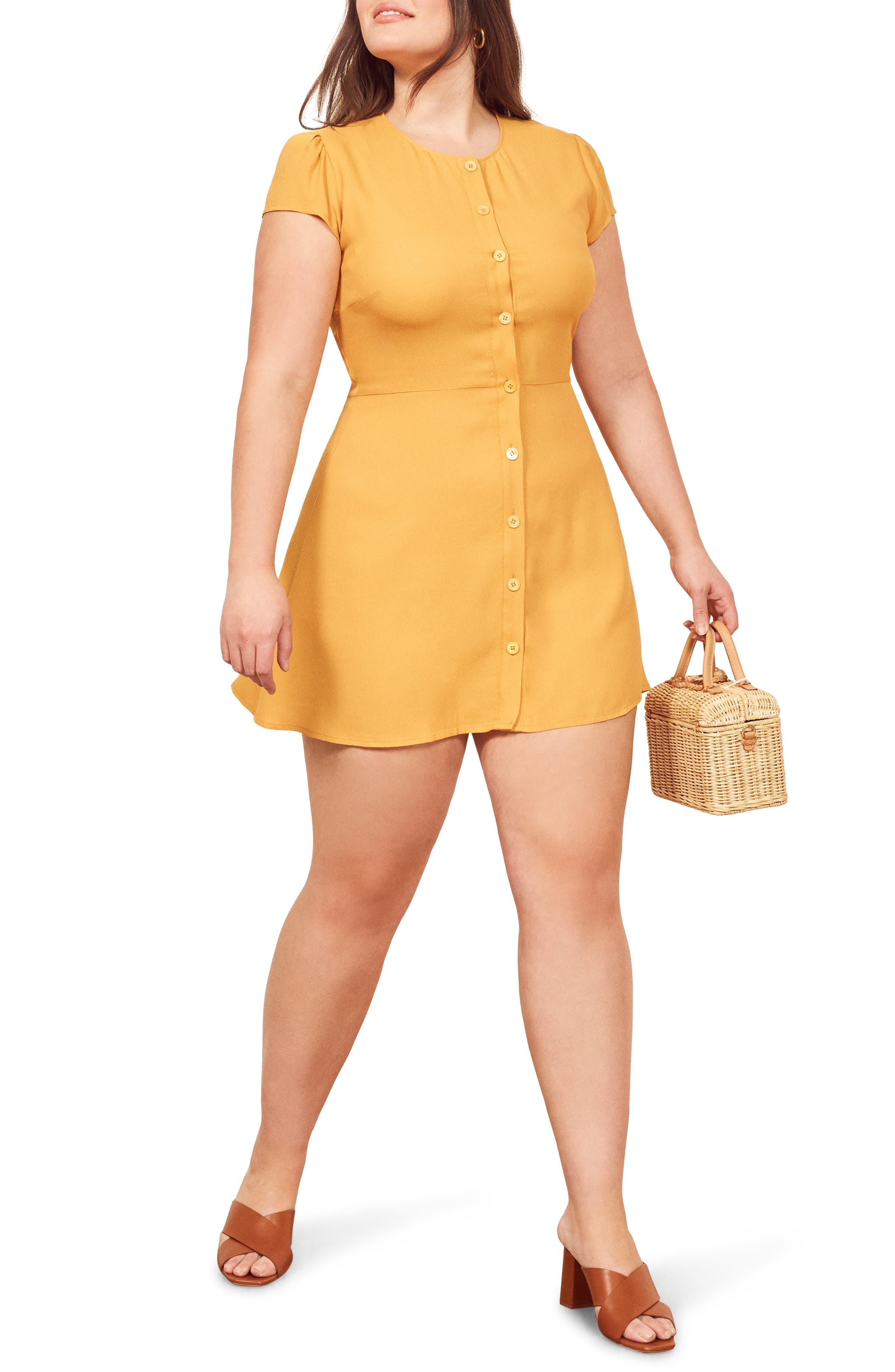 Reformation Vikki Minidress, Yellow