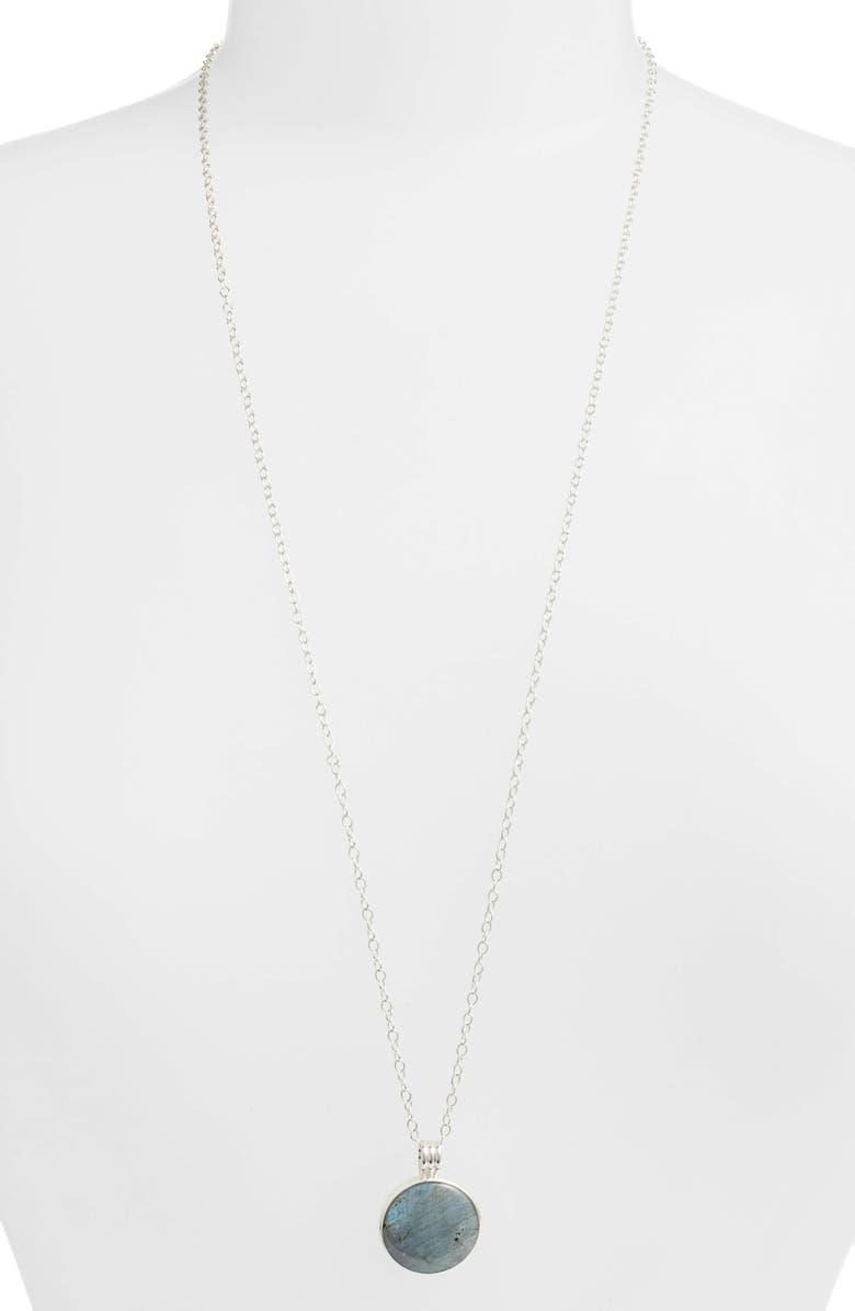 ANNA BECK Long Labradorite Pendant Necklace, Main, color, SILVER/ LABRADORITE