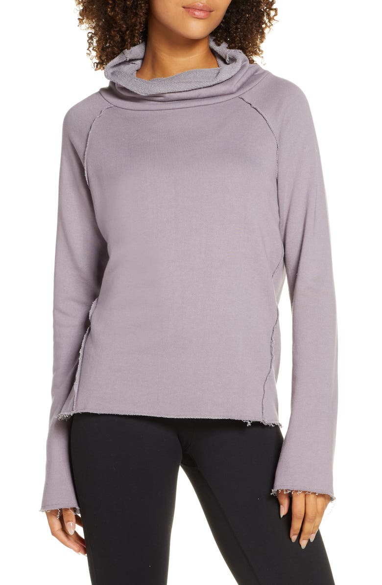 ALALA Riki Funnel Neck Pullover, Main, color, HAZE