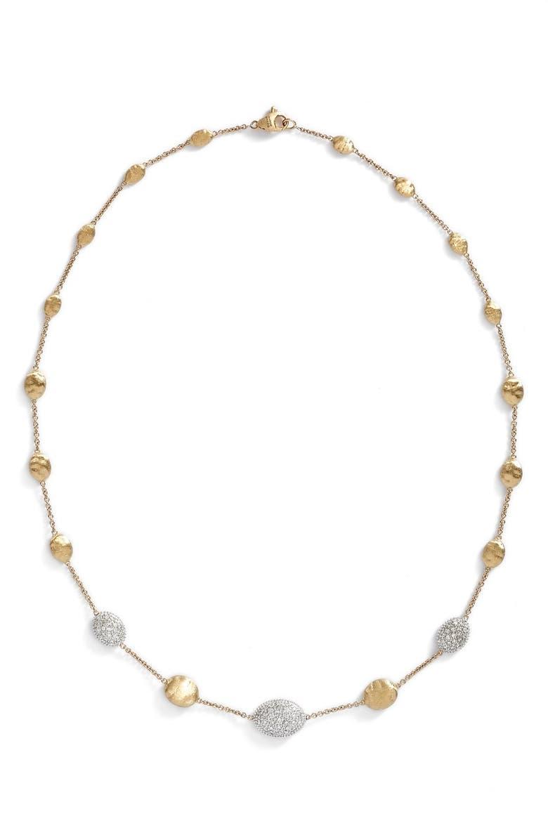 MARCO BICEGO 'Siviglia' Diamond Necklace, Main, color, YELLOW GOLD