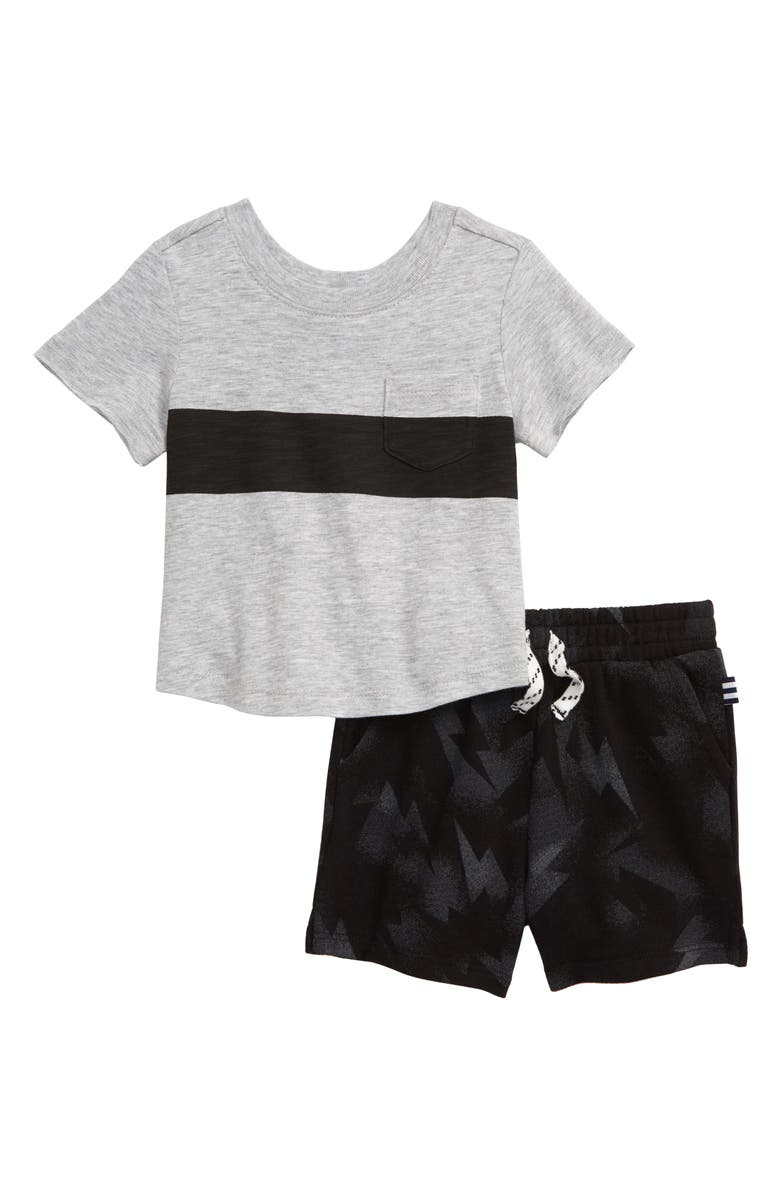 SPLENDID Lightning Bolt T-Shirt & Shorts Set, Main, color, 001